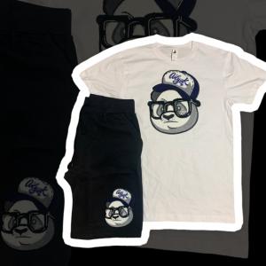 White / Grey / Navy Blue Ailyak Panda Set