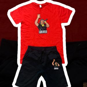 Red T Black Shorts Legends Set